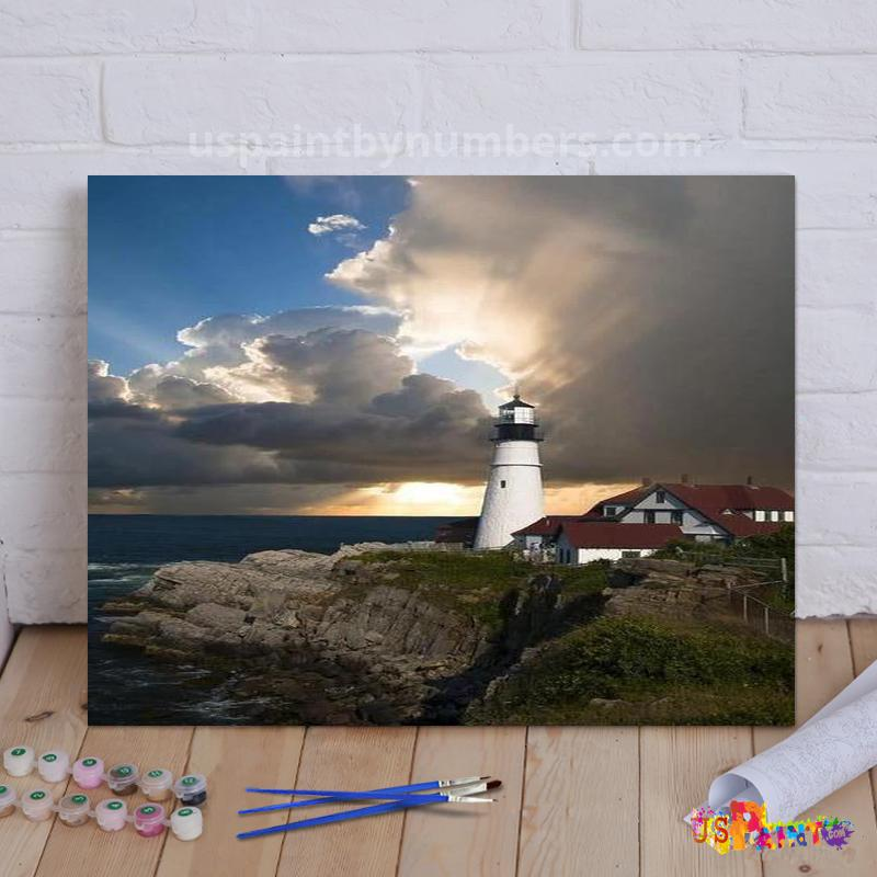 *FREE* Lone Lighthouse - Paint By Numbers